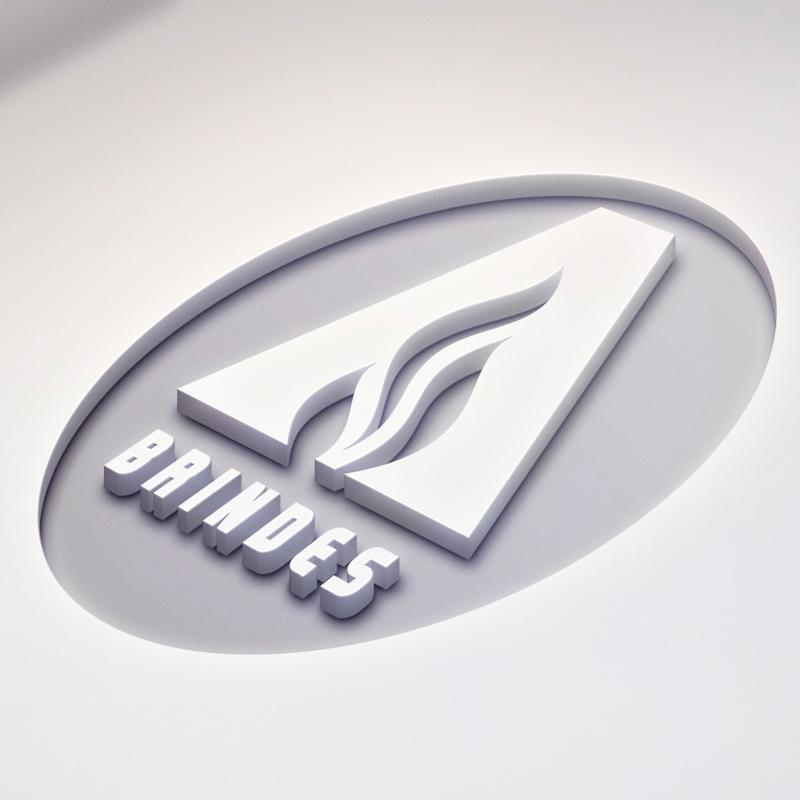 Mockup do símbolo criado para a Ablaze Brindes