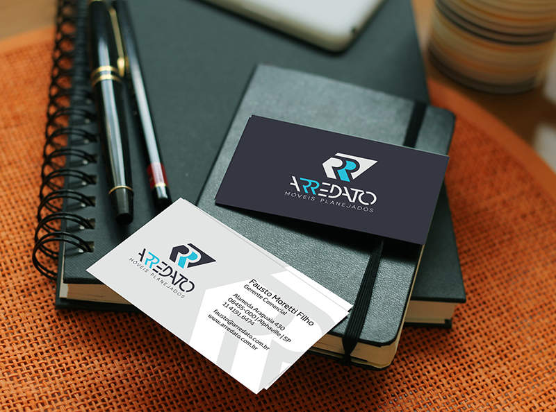Padrão de cartão de visita criado para a Arredato Móveis