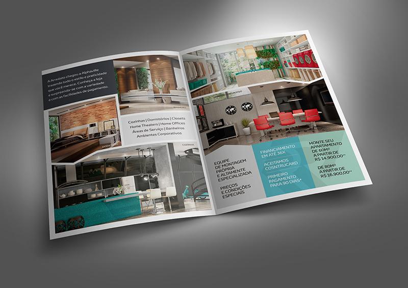 Parte interna do folheto A4