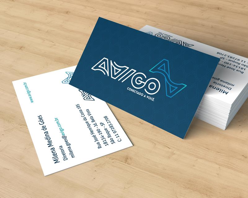 Padrão do cartão de visita criado para a AVIGO