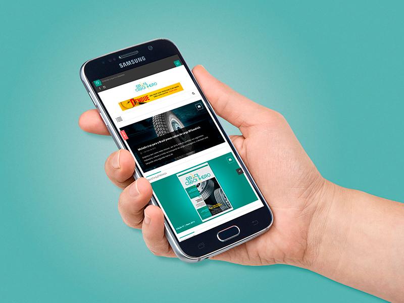 O site da revista pode ser acessado via desktop, tablet ou smartphone