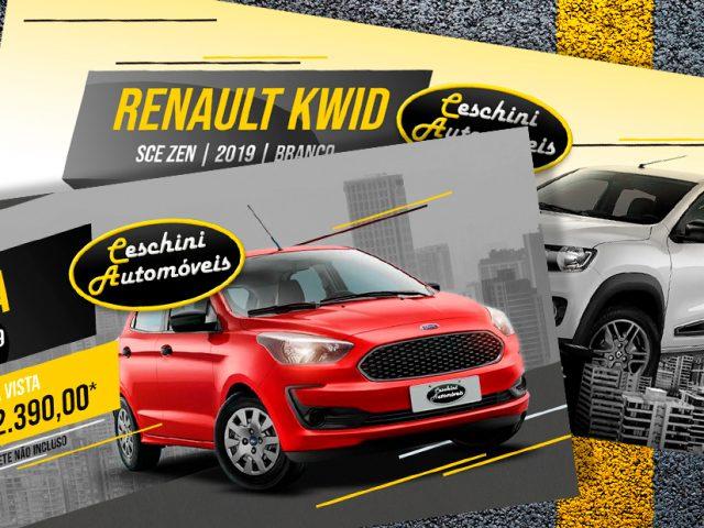 Ceschini tem site e banners novos para divulgar seus veículos