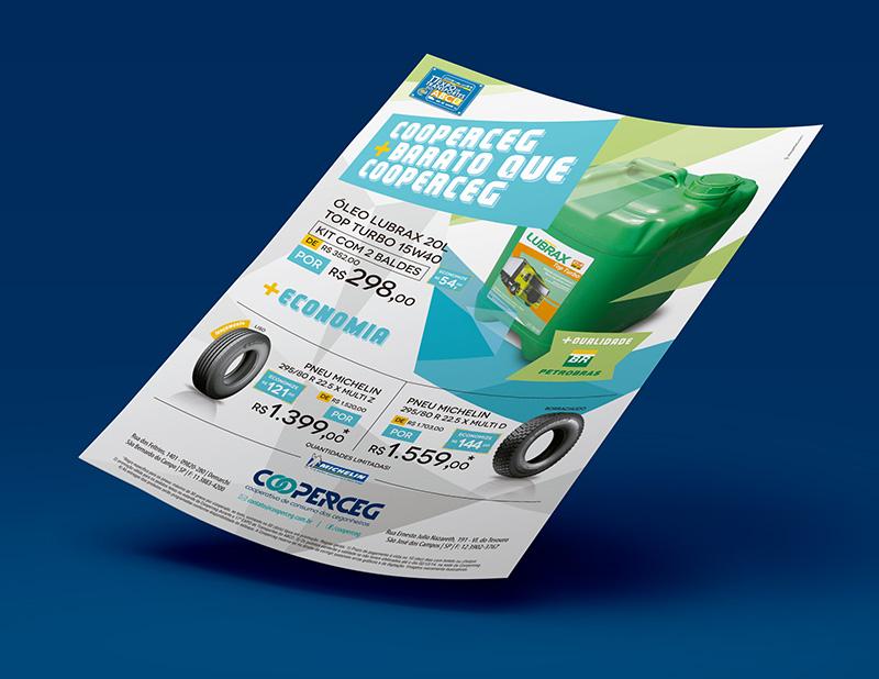 Anúncio A4 do folheto promocional feito para o evento.