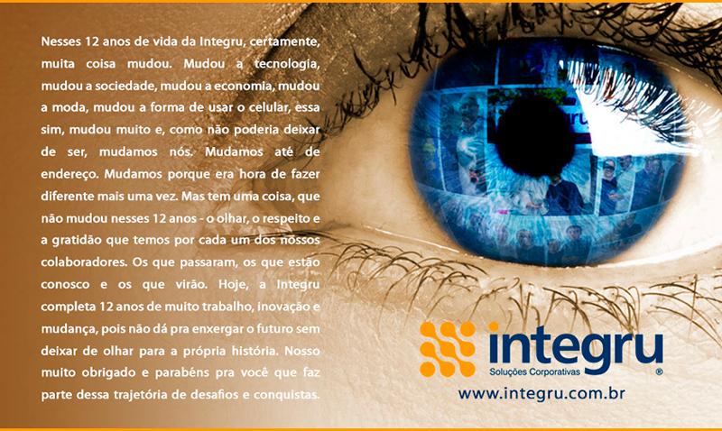 Texto e imagens desenvolvidos para o post da Integru no Facebook