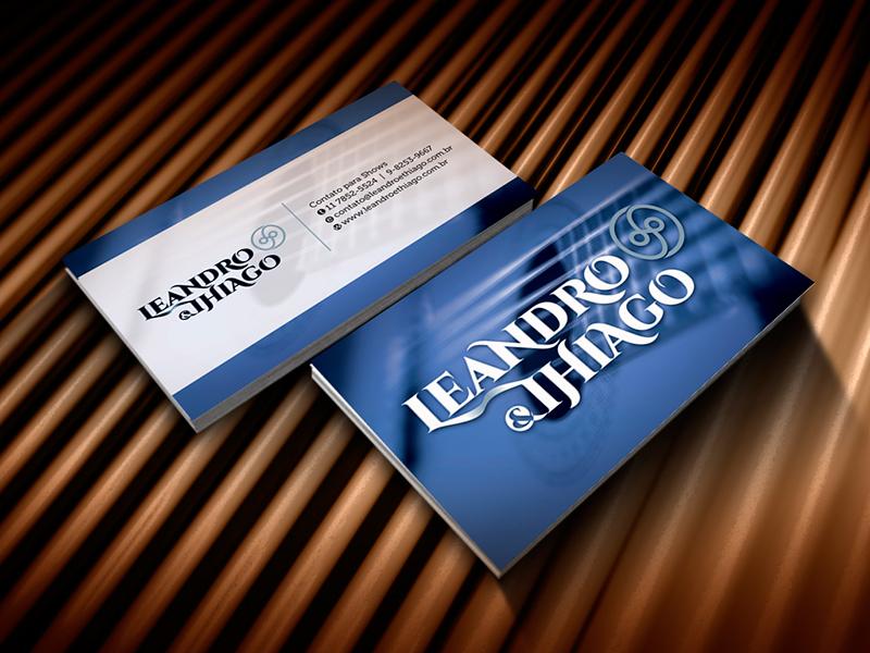 Cartão de visita criado para a dupla sertaneja Leandro e Thiago