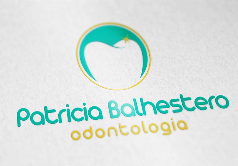 Mockup da marca criada na versão color - uso positivo.