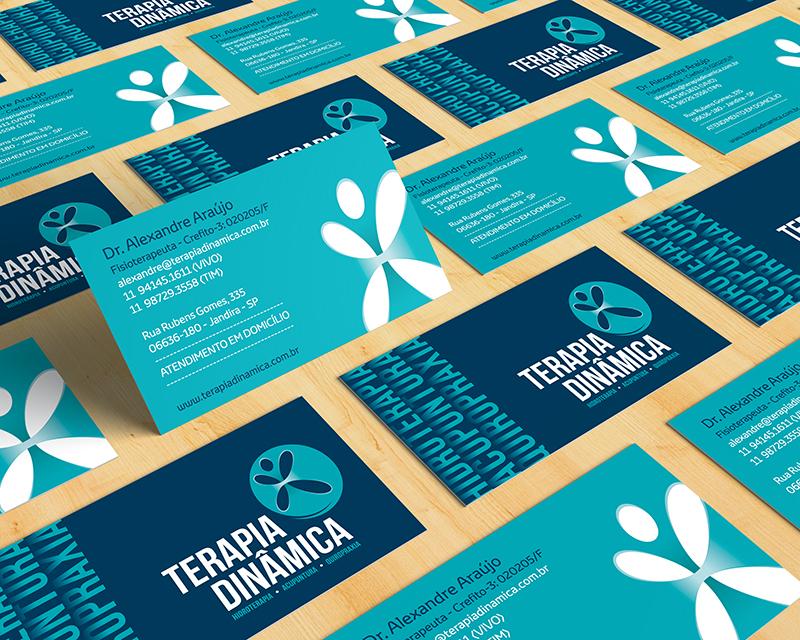 Padrão visual do cartão de visita criado para a Terapia Dinâmica