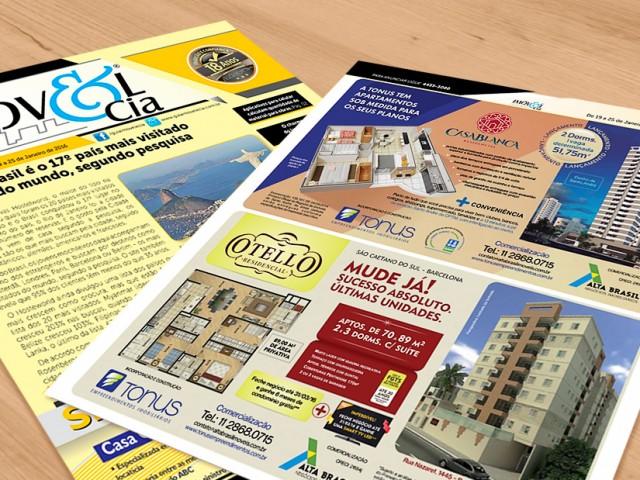 Construtora Tonus anuncia em jornal local