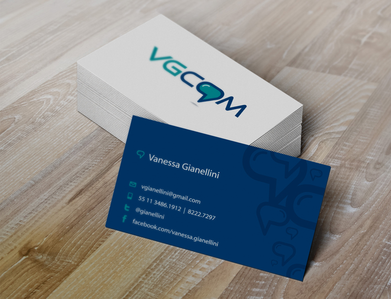 Padrão visual do cartão de visita criado para a VGCOM