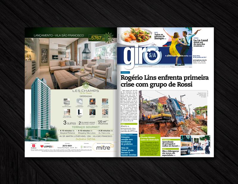 Contra capa e capa oficial da edição 273 do Jornal Giro S/A